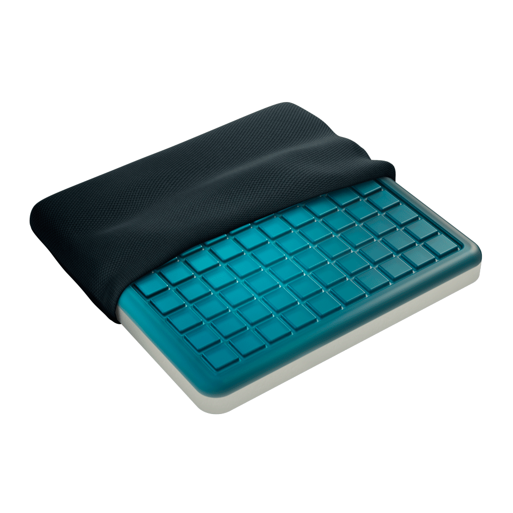 Gel seat pad adds cool, cushioned support to chairs & car seats